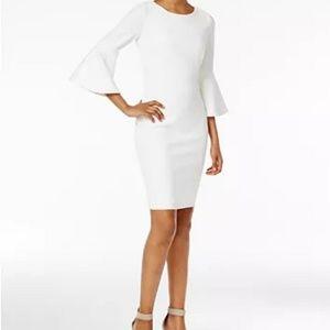 🆕 Petite Bell-Sleeve Sheath Dress